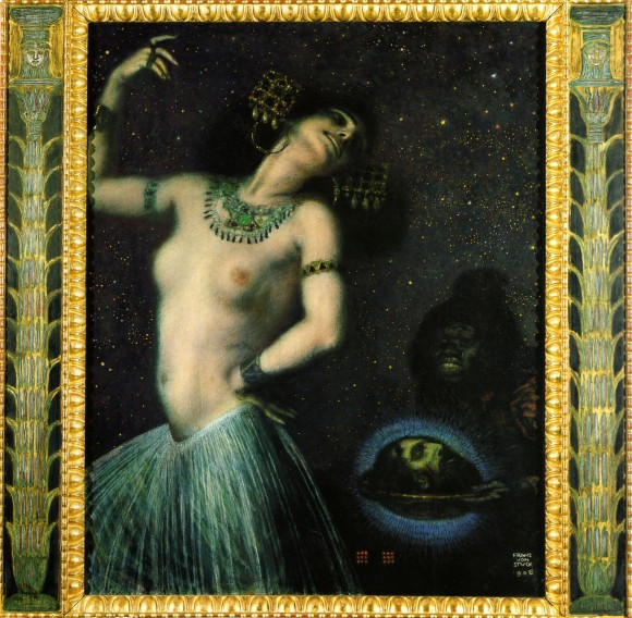 Franz von Stuck Salome II 580x568 Androgynie en femme fatale bij Franz von Stuck 